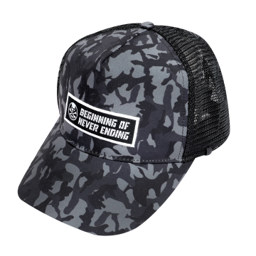 Apparel Bone CPBCM Camo Mesh Cap Black
