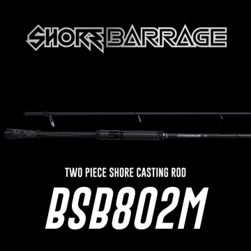 Rod Bone Shore Barrage BSB802M Fast Spin 2pc PE0.8-2